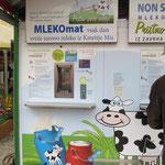 Frische Milch zum Abfüllen in Ljubliana