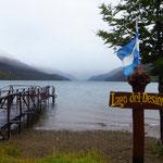Regen über dem Lago Del Desierto.