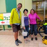Hiroko hilft uns spontan bei der Hotelsuche und beim Einkaufen. Herzlichen Dank, Hiroko!