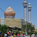 Die Minarette sehen anders aus als in der Türkei.