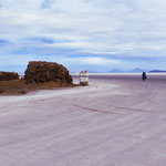 Wir verlassen die Insel Incahuasi Richtung Uyuni.