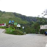 Wir fahren rechts Richtung Popayan.