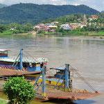 Die Fährverbindung von Ban Houayxay (Laos) nach Chiang Khong (Thailand) wurde eingestellt.