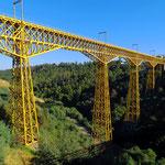 Eine der höchsten Brücken in Südamerika bei Collipulli.