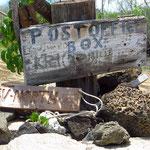 In der Postoffice Bay. Hier können die Touris Postkarten deponieren . . .