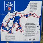 Schöner Radweg und einen Fjord.