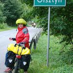 Ankunft in Allenstein bei Regen