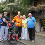 Abschied in Meggen: Selina, Marc, Pit, Eveline und Rolf