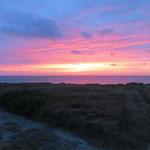 Wieder mal so ein kitschiger Sonnenuntergang - aber immer wieder sooo schön!