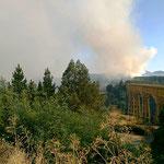 Waldbrände bei Collipulli.
