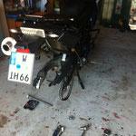 Rad raus und ab zum örtlichen Reifenhändler