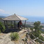 Aussichtspunkt in den Bergen von Asprovalta