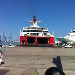 Unsere Fähre nach Igoumenitsa / Griechenland