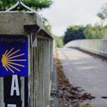 Der Pilgerweg in der Nähe von Duisburg.