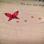 Der Schmetterling - nun nicht mehr auf meiner Stirn.