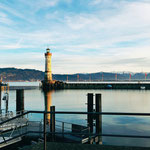 Kurz nach einer Ankunft in Lindau am Bodensee.