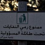 Ich glaube, meine Arabischkenntnisse reichen aus, um dieses Schild zu verstehen.