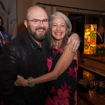 Mark Fewer with After Concert Reception host Chanie Henning.