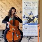 Next Wave Showcase finalist cellist Antonia Cambre opens Saturday Community Concert.