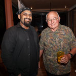 Cellist Amahl Arulanandam along with Board Member Bruce Hutchinson.