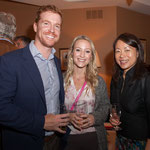 After Concert Reception Hospitality sponsors Chris and Katharine Little along with Aiyun Huang.