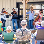 The Rosebud String Quartet perform on instruments made by local luthiers at Sunday Community Concert.