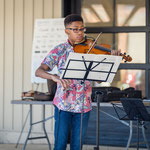 Lincoln Haggart-Ives opens Sunday Community Concert.