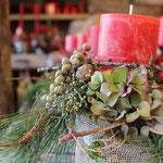 natürliche Materialen, kombiniert mit weihnachtlichen A