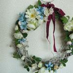 春の小花リース