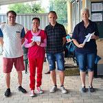 Siegerehrung 3. Platz (v.l.n.r.): Manuel, Anita-Dolores, Philipp
