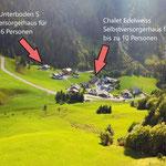 Lageplan unserer Vital Chalets Unterboden 5 und Edelweiß