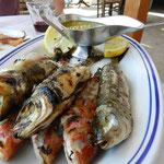 Triglie e pesce azzurro alla piastra