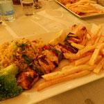 Souvlaki - spiedino di carne con verdure