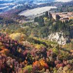 Asciano: abbazia di Monte Oliveto