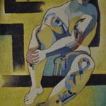 Título: mujer    Técnica: óleo / tela      Medidas: 100 x 80 cm