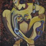 Título: diálogo    Técnica: óleo / tela      Medidas: 100 x 80 cm