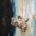 Título: nido      Técnica: óleo / lienzo  Medidas: 50 x 40 cm