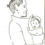 Mann mit dem Kind