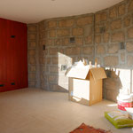 mur en S avant en briques de chanvre