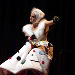 Warm & Fuzzy - Out Of The Box.. Christine Johnston playing the saw - Photo courtesy QPAC