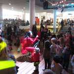 Hosting the Clore Ballroom during IMAGINE Children's Festival London 2014 - Madame Lark plays the saw