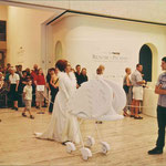 Christine Johnston -  QLD Art Gallery performance with Michele Watt and Lorne Gerlach (on Sousaphones) 1996