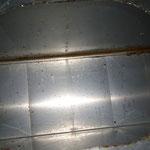 Abluftkanal Küche während der Reinigung (Blick durch Revisionsöffnung)