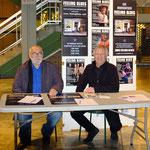 André Fanelli & Jean-louis guinochet sur un stand Feeling Blues au téâtre de Draguignan.