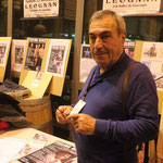 """Gilbert Béreau sur le stand à la """"Nuit du Blues de Léognan"""" (33)"""