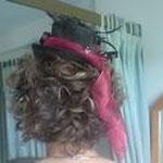 Brautfrisur mit Kopfputzverfeinerung handgemacht