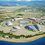 Вид сверху на Олимпийский парк
