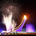 Новогодний салют в Олимпийском парке