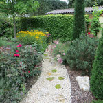 romantischer Gartenteil