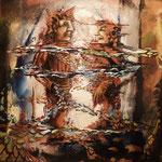 """The big meeting"" Acryl auf Leinwand 40 x 40"